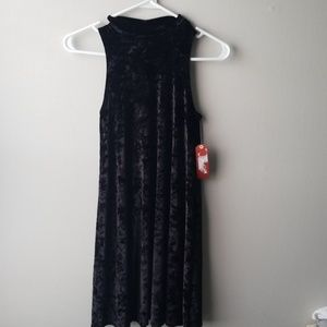 Arizona Jean Co. Crushed Velvet High Neck Dress XS